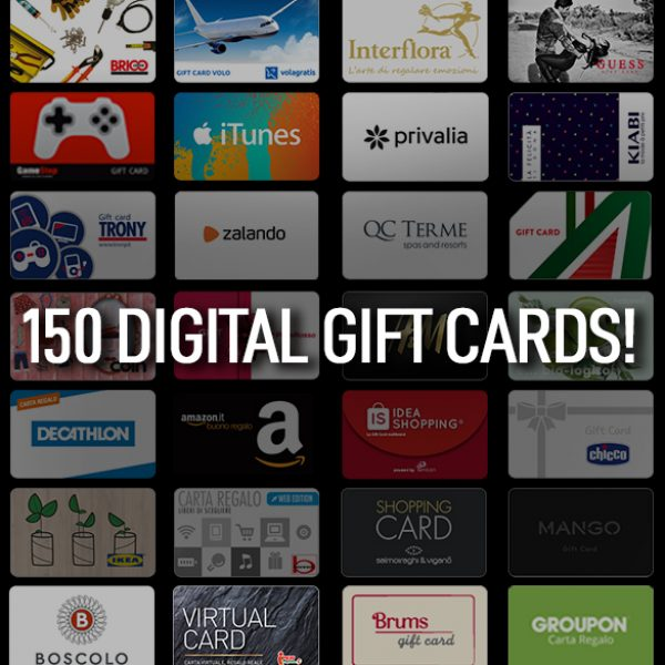 150 partnerships for 150 digital gift cards