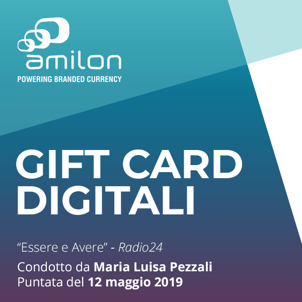 Amilon e le gift card digitali su Radio24